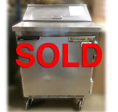 Refrigerated Prep Table by Used Beverage Air Sp27 Refrigerated Sandwich Prep Table