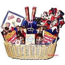 chicago food gifts chicago cubs baseball theme gift basket gift baskets