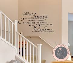 serenity prayer wall decal wall mural quote wall stickers