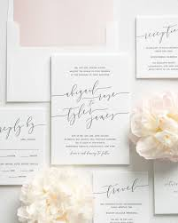 Wedding Invitation Packages The 25 Best Modern Calligraphy Letterpress Wedding Invitations