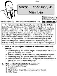 idea and best title worksheets martin luther king test prep