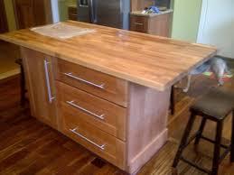 red oak wood alpine raised door kitchen island butcher block top