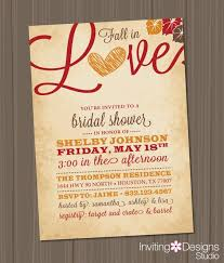 Bridal Shower Invitation Wording Fall Bridal Shower Invitations Badbrya Com