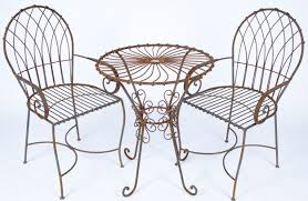 Patio Cafe Table And Chairs Marvelous Wrought Iron Table And Chair Set Part 5 G175