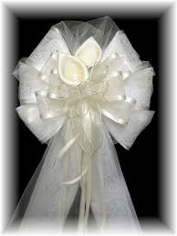 wedding bows pew bows by janeil floral pew bows florist ready and themed pew