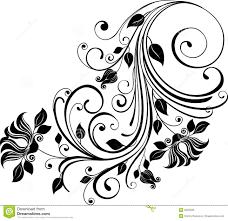 monochrome floral ornament stock photos image 8455333