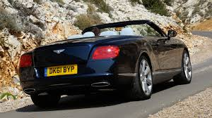 bentley black convertible 2012 bentley continental gtc dark sapphire rear hd wallpaper 3