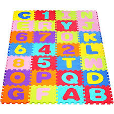 tappeti puzzle bambini homfa tappeto puzzle bambini di 36 con lettere numeri in soffice