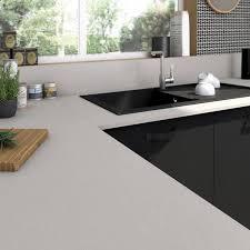 plan de travail cuisine stratifié leroy merlin plan de travail stratifié effet alu cendré mat l 315 x p 65 cm ep
