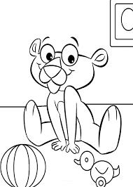 panther cartoon coloring pages