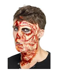 latex for halloween makeup pizza face burn latex burn for halloween horror shop com