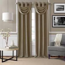 swag hanging ls home depot elrene brooke 18 in w x 23 in l polyester single waterfall swag