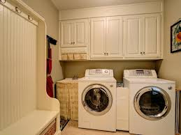 brown and white nuance laundry room cabinets design ideas has