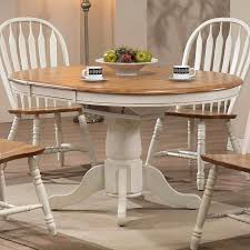 Antique White Dining Room Furniture Missouri Round Dining Table Antique White Rustic Oak Eci