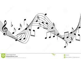music notes background stock image image 6934011