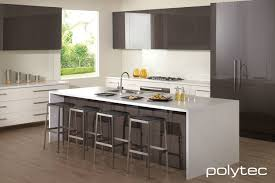 Sheen Kitchen Design Createc Doors And Panels In Truffle Lini Gloss Melamine Drawers In
