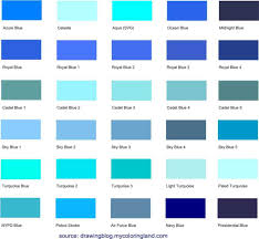 list of color shades of the color blue different shades of blue a list with