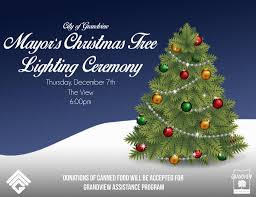 mayor u0027s christmas tree lighting event calendar grandview mo
