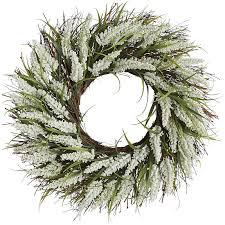 faux white 22 wreath pier 1 imports