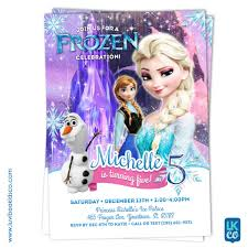 frozen birthday invitation style 02 frozen elsa anna and olaf