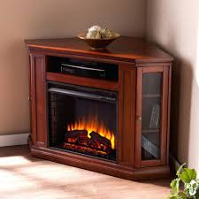 tv stand mahogany convertible corner electric fireplace tv stand