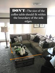 how big should a coffee table be design guide how to style a sectional sofa living rooms room and