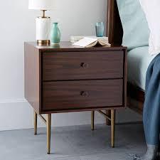 edie marble inlay wooden nightstand