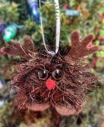 rudolph reindeer ornament handmade felt christmas ornament