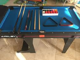 5ft Folding Pool Table Riley 5ft Folding Pool Table With All Accessories American Style