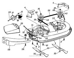 mtd 13a747gf062 1997 parts diagram for mowing deck 38 inch