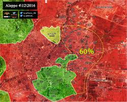 Syria Map Control by Map Update Syrian Army Captures 60 Of Rebel Held Aleppo In The