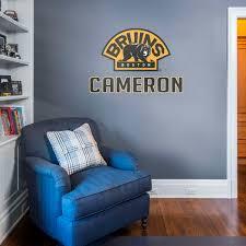 boston bruins bedroom boston bruins fathead wall decals more shop nhl fathead