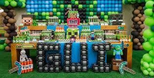 minecraft party decorations kara s party ideas minecraft party decor archives kara s party ideas