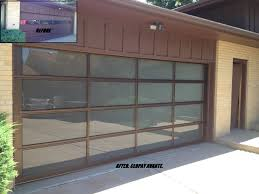 Martin Overhead Door by The Clopay Avante Collection Contemporary Glass Garage Door With