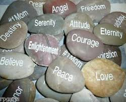 engraved river rocks you choose sayings quotes rock garden words