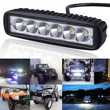 led tractor light bar 6 inch 18w led light bar 12v 24v led bar daytime running lights