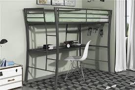 dhp furniture avenue greene metropolis twin loft with desk