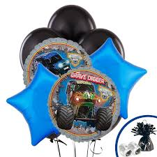 grave digger monster truck birthday party supplies amazon com monster jam party supplies balloon bouquet toys u0026 games