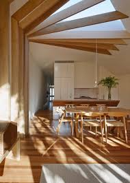 Interior Stitches Wooden Beams Create Sewing Inspired Details At Cross Stitch House