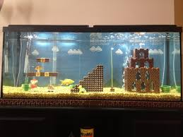 nice decor of cool aquariums with brown puzzle toys also mini