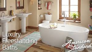American Standard Walk In Tubs Luxury Freestanding Tubs Soothing Deep Soaking Bathtubs Youtube