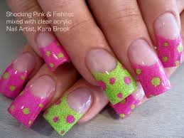 nail art green colour glamour nail salon acrylic nails with green