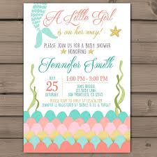 mermaid baby shower invitations baby shower invitation templates for a girl unique 33 gorgeous