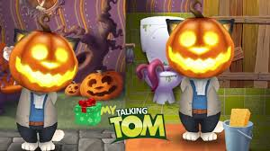 my talking tom halloween very funny gameplay singing johny johny