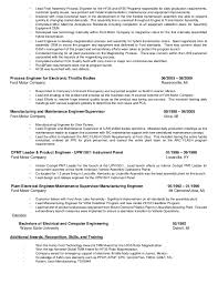 product engineer resume quality engineer job description quality