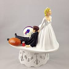 wedding toppers wedding cake topper football themed buffalo bills unique and