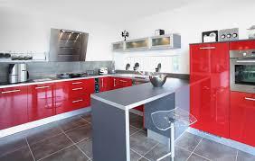 Deco Cuisine Gris Et Noir by Indogate Com Cuisine Rouge Mur Couleur