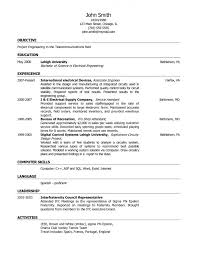 Computer Science Student Resume Sample by Resume Computer Skills In Cv Objectives For Internship Resume