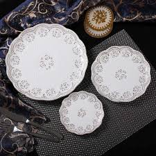 gold inlay engraving aliexpress buy modern style bone china dinner plates