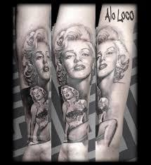 instagram tattoo artist london marilyn monroe portrait alo loco work in progress actress full